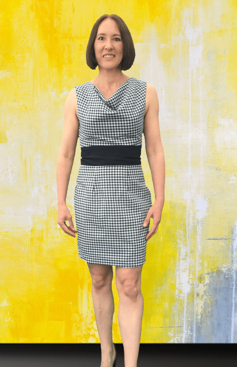 Black Gingham Dress Short Front image