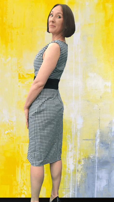 Black Gingham Dress Side image