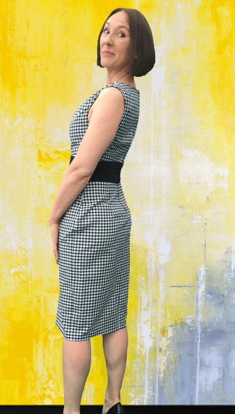 Black Gingham Dress Side image