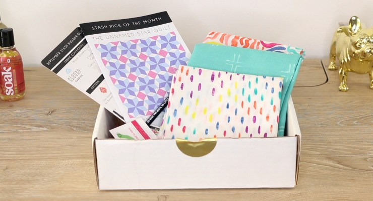 Stash Builder Box September 2016 Unboxing [Sewing & Quilting Subscription Box Review]