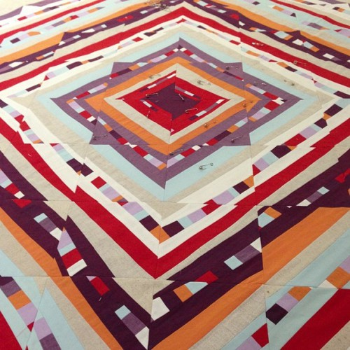 sewkatiedid/Psychedelic Baby Quilt