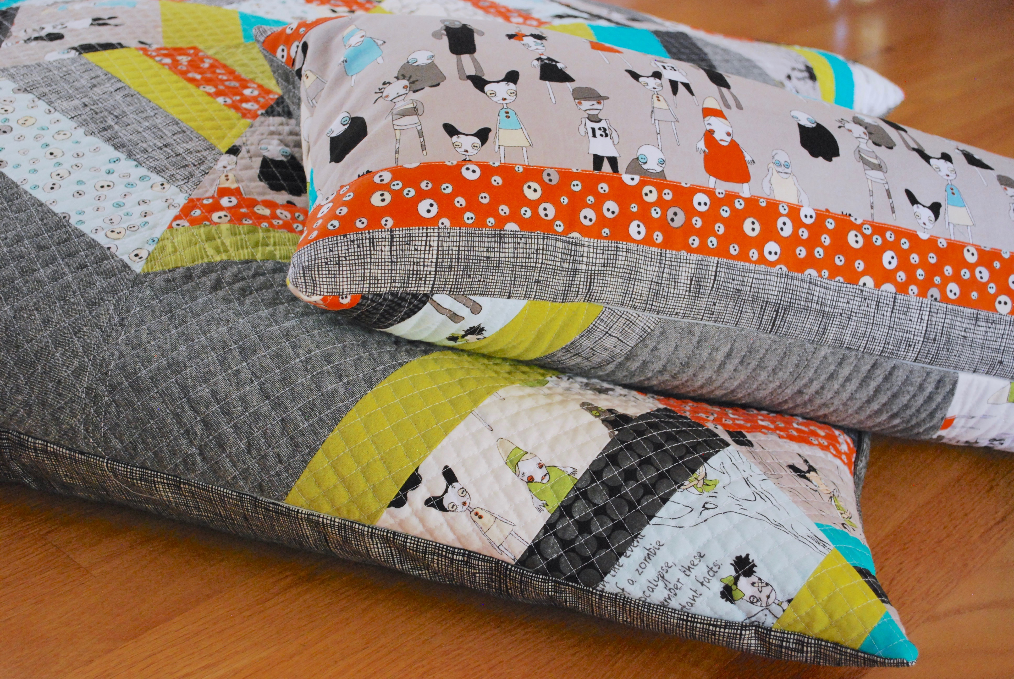 sew katie did  halloween spiderweb block pillow workshop