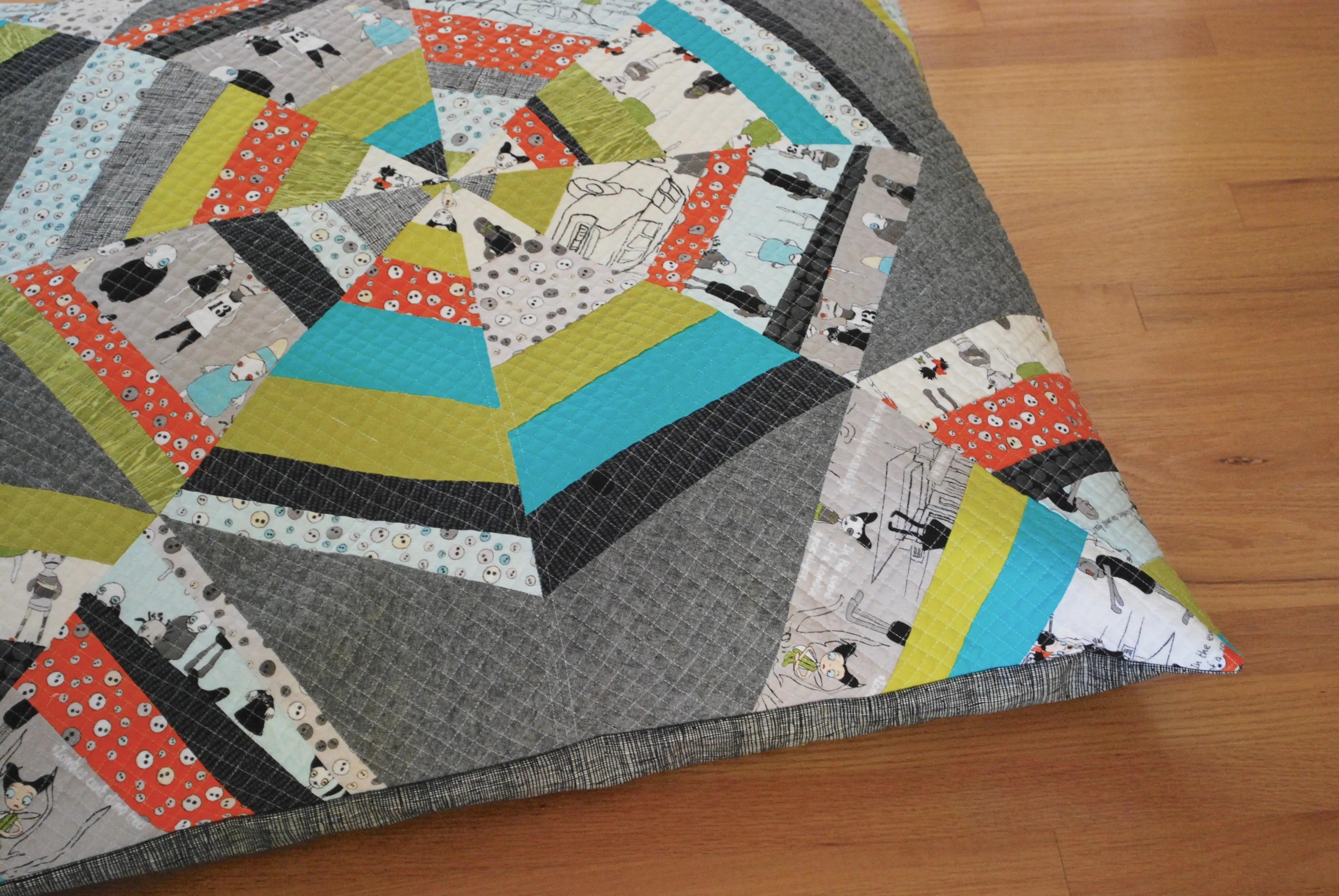 sew katie did | spiderweb quilt block pillow workshop