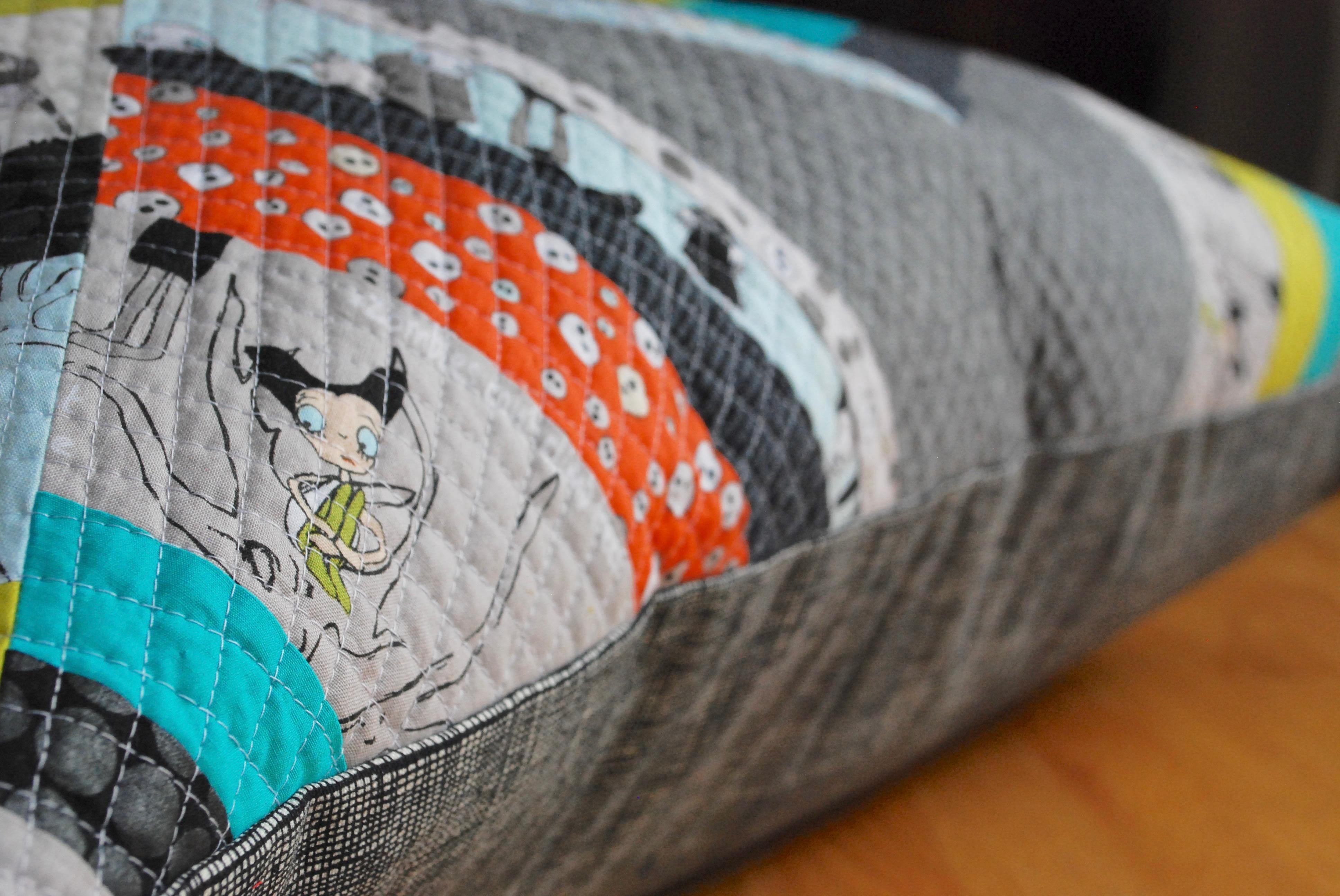 sew katie did   Halloween spiderweb quilt block workshop