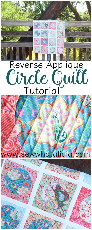 Reverse Applique Circle Quilt | www.sewwhatalicia.com