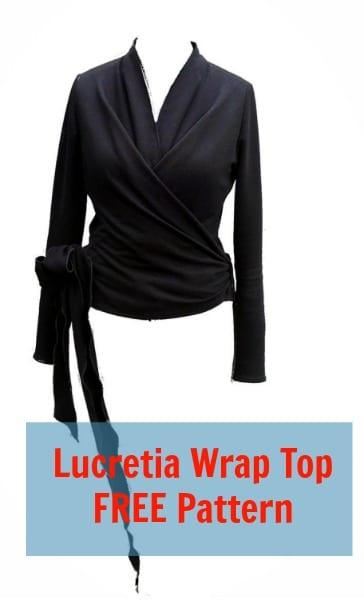Wrap Top Free Pattern: Lucretia