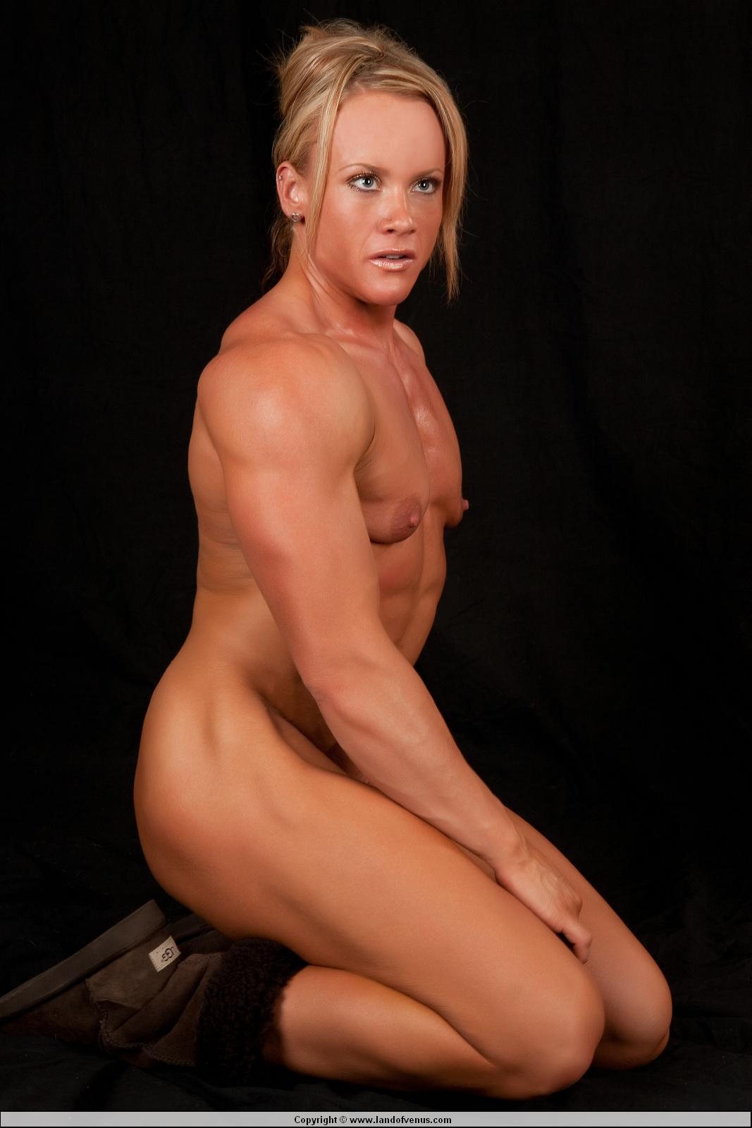 nude muscular female legs