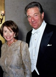 House Speaker Nancy Pelosi attends a San Francisco Opera gala with her husband, Paul Pelosi. Both are suspected of major conflicts of interest.