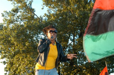 Rapper Newsense of Pyschodrama gave a legendary performance at the Chairman Fred Hampton Street Party of 2009 in Chicago.