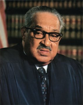 "Thurgood Marshall, the first African-American Supreme Court justice, wanted peremptory challenges banned. By using the, he said, ""Prosecutors are left free to discriminate against blacks in jury selection provided that they hold that discrimination to an 'acceptable' level."""