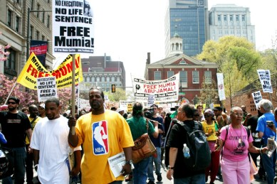 It is the power of the people that will save and free Mumia – through many more rallies like this one in Philadelphia April 19, 2008. – Photo: Minister of Information JR