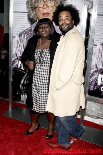 "Gabourey Sidibe, who plays the title role in ""Precious,"" and Tyler Perry, executive producer, attend the New York screening of Perry's ""Medea Goes to Jail."""