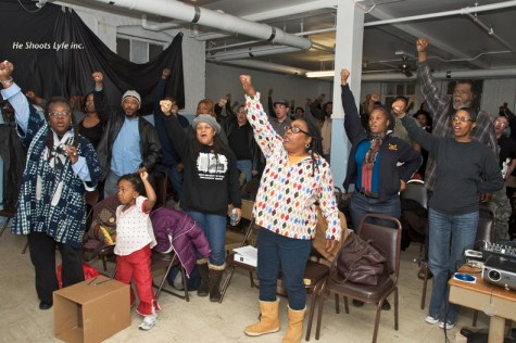 People of all ages and ethnicities attended International Revolutionary Day to commemorate the lives of Chairman Fred Hampton and Defense Captain Mark Clark, on Dec. 4 in Chicago. – Photo: He Shoots Lyfe Inc.