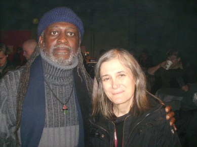 Jahahara, Amy Goodman of Democracy Now at Klimaforum09 alternative in Copenhagen 120809Baba Jahahara poses with Amy Goodman of Democracy Now, the only news hour broadcasting from Copenhagen, at Klimaforum09, an alternative climate summit, the global civil society counterpart of the official U.N. conference in the Bella Center.
