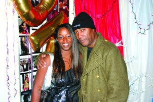 Bay View writer Apollonia Jordan topped off her interview Dec. 27 by posing with Godfather of Comedy Paul Mooney.