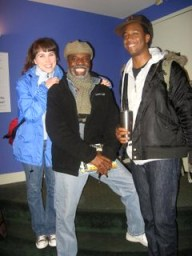 "Laura Morache, L. Peter Callendar and Lloyd Roberson II from the cast of ""My Children, My Africa"" – Photo: Wanda Sabir"
