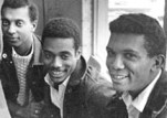Stokely Carmichael, Charlie Cobb and George Greene of SNCC at a 1963 protest in Atlanta, Georgia – Photo: Danny Lyon, Magnum