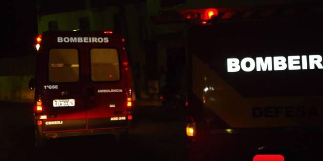 bombeiros noite dois ambulancias