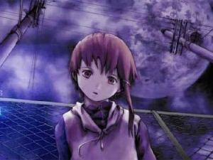 According to Google Image Search, Lain is about two things.  Staring blankly into space ...