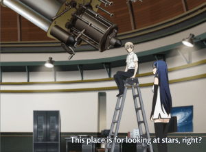 He seems to live at this observatory and have sole use of it.  Because giant reflecting telescopes are often entrusted to the care of high school juniors.