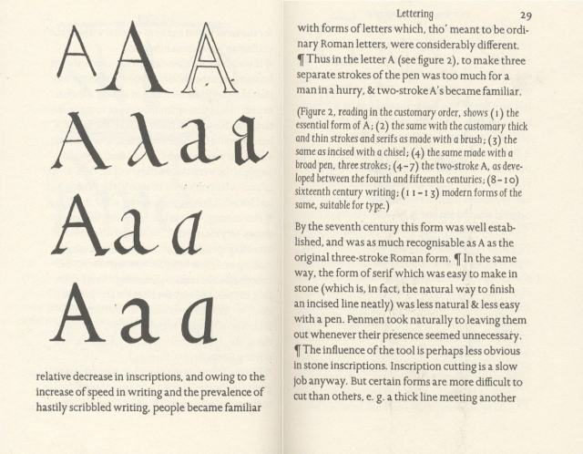 An Essay on Typography by Eric Gill, pp 28-29