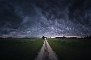 Storm Clouds Panorama Road