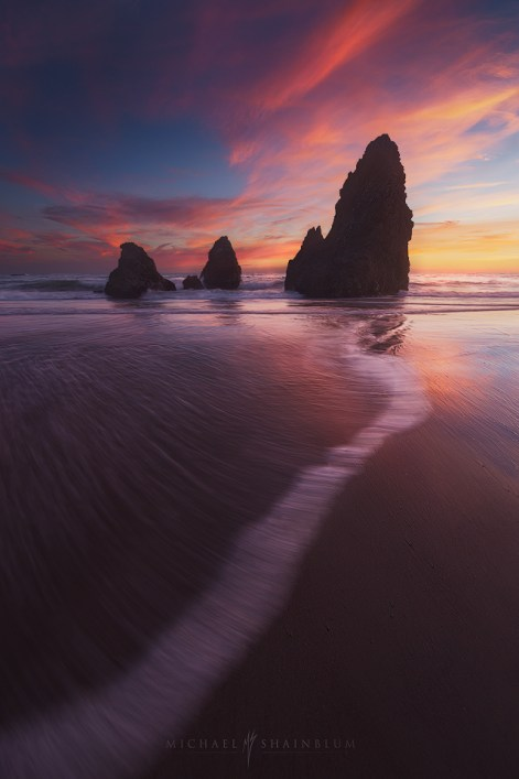 Rodeo Beach at sunset in San Francisco.