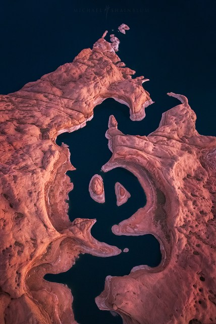 Lake Powell Aerial Landscape Photograph