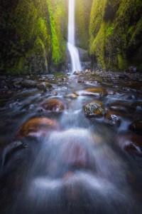 Oneonta Gorge Waterfall Oregon