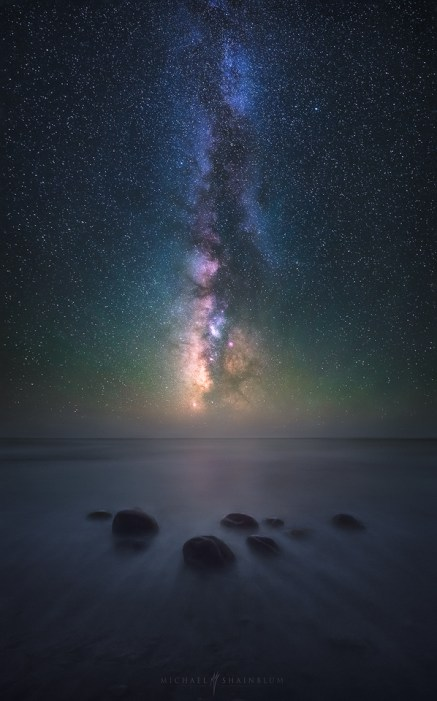 Milky Way Night Sky Ocean