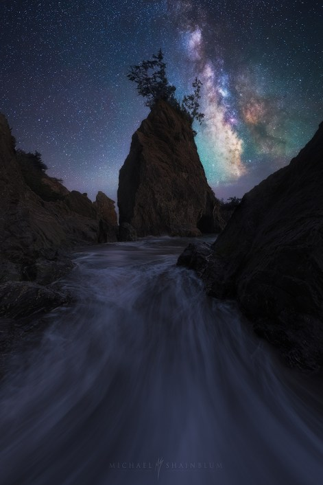 Coast Oregon Milky Way Galaxy