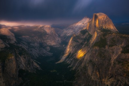 Glacier Point Yosemite Sunset Half Dome