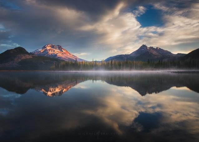 Sparks Lake Mountain Reflection Oregon