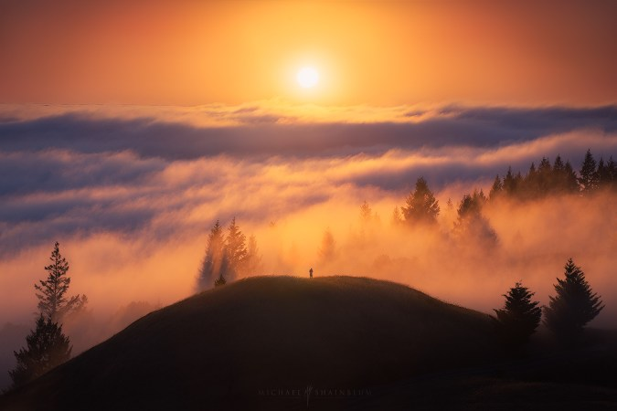 Fog Mountain Hike Sunset