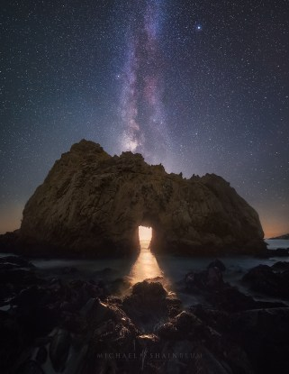 Pfeiffer Beach Moon Milky Way Big Sur California