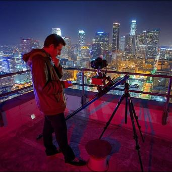 Timelapse photographer City Los Angeles
