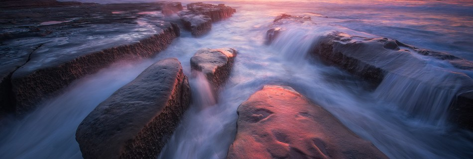 Seascape image taken in San Diego California.