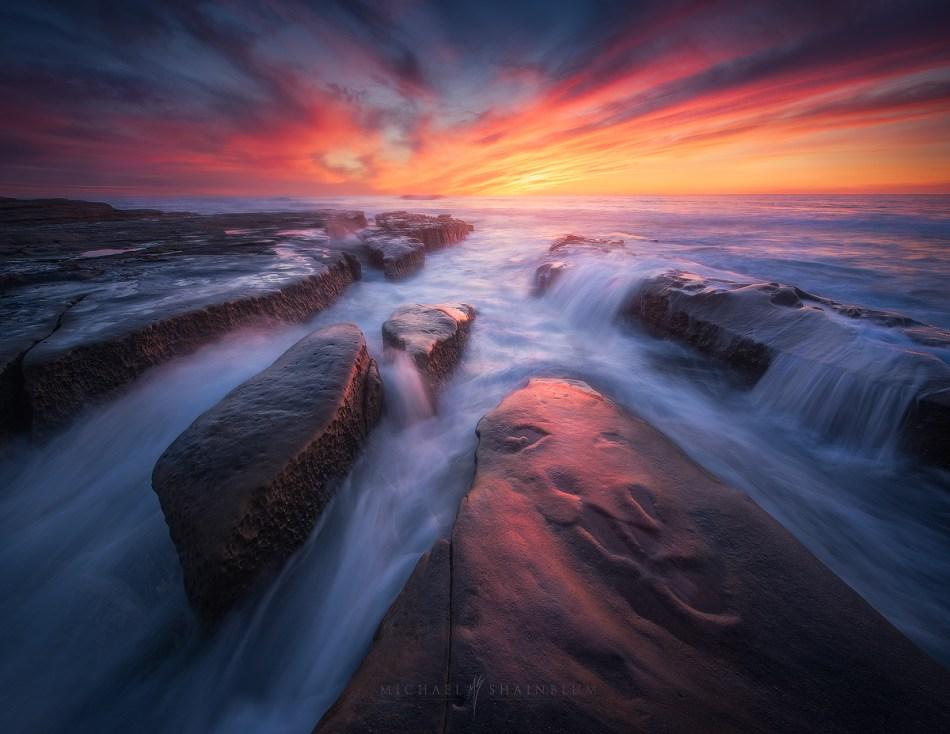 Seascape photography taken in San Diego California.