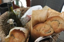 Gifts from our hosts- Croatian olive oil and fresh baked bread
