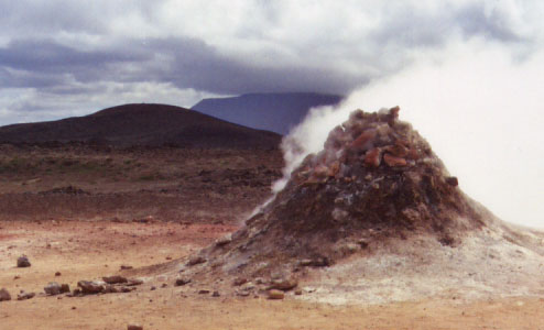 This pile of rocks was steaming constantly, and the steam had that warm, wet, rotten egg sulfur smell. Mmmm, delightful!
