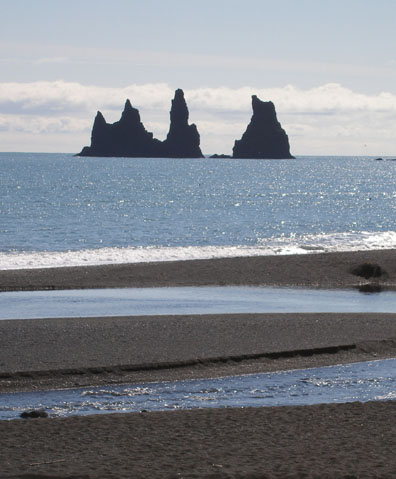 Another iconic bit of Icelandic imagery- rock formations off the coast of Vík.