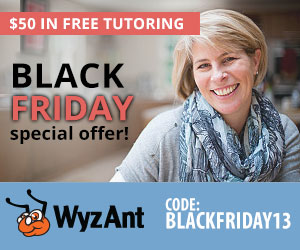 Get $50 in free tutoring for BLACK FRIDAY!