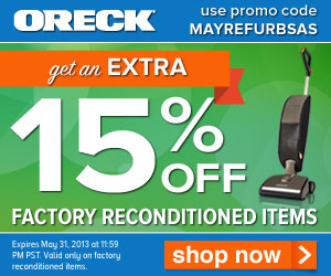 15% Factory Reconditioned May