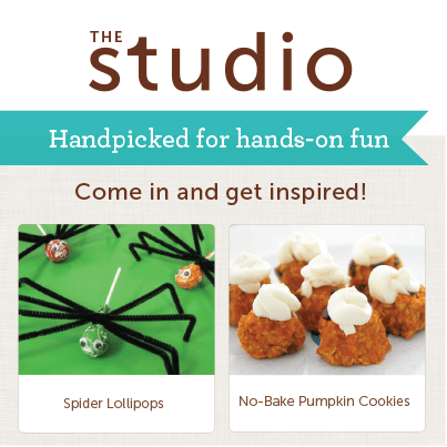 In The Studio, you will find loads of kid-friendly projects from Halloween crafts, kid-friendly recipes, science experiments, and more.
