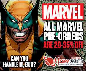Save 20-35% on Marvel Comics Pre-Orders at TFAW.com!