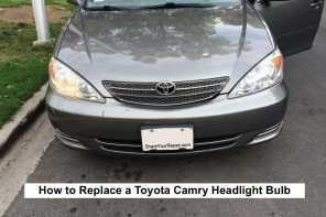 how to replace headlight bulb on toyota camry 2001 2006. Black Bedroom Furniture Sets. Home Design Ideas