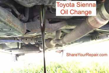 Toyota Sienna Oil Change