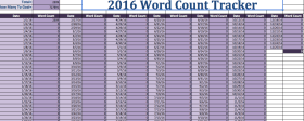 2016 Word Count Tracker