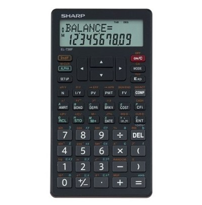 SHARP EL-738 Financial Calculator (Sharp EL738) recommended by UNISA