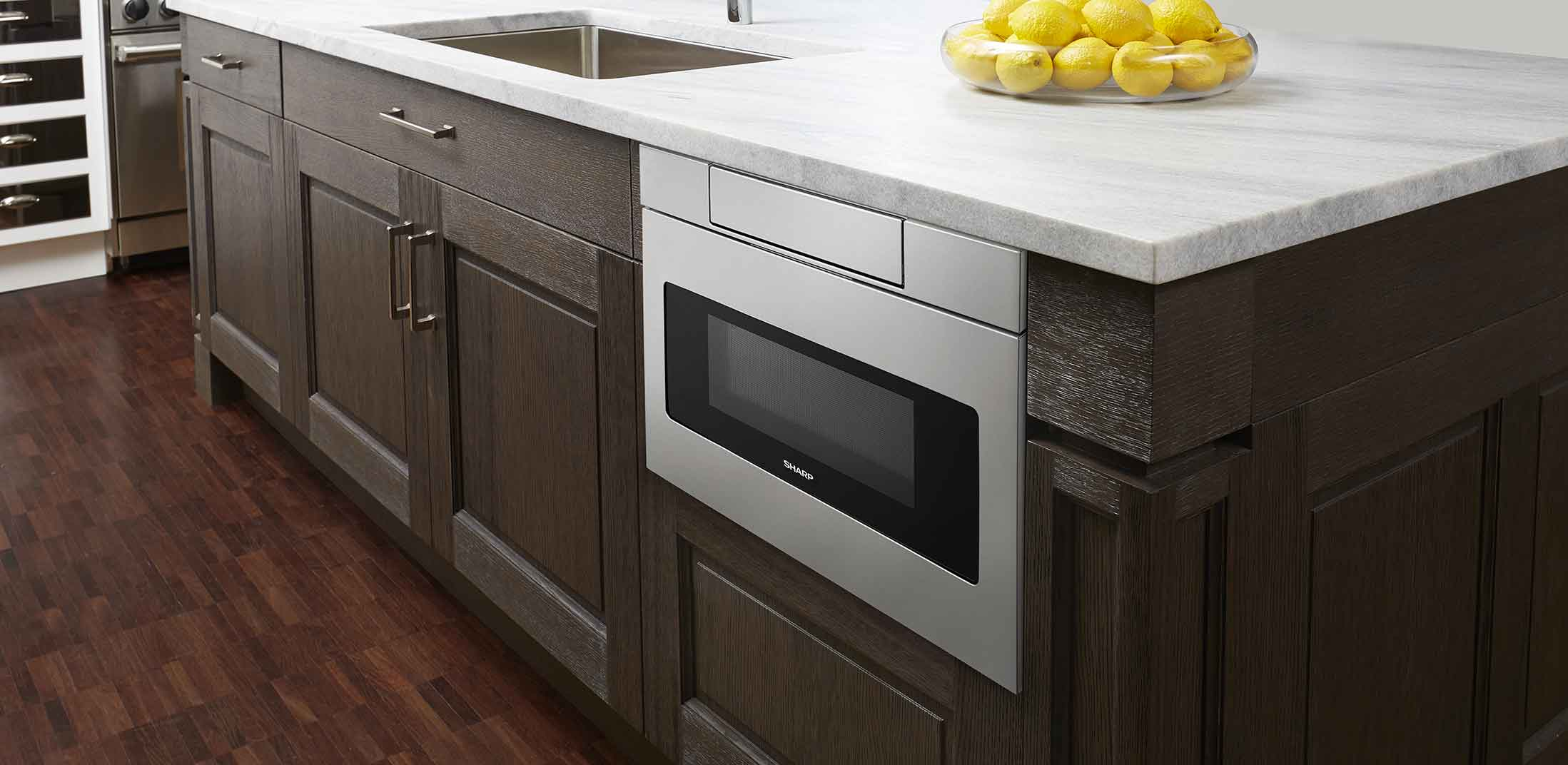 Convenient Placement Options The Microwave Drawer  Microwave Drawer In Island A93